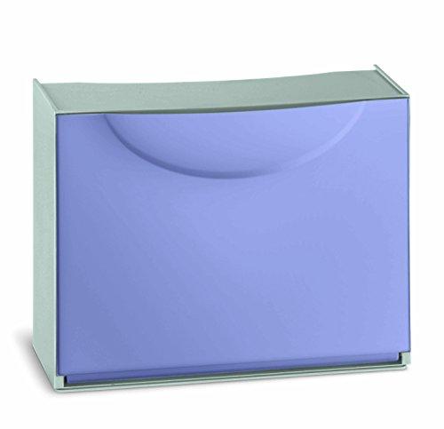Terry Harmony Caja Zapatero, plástico, Púrpura, 51x 19x 39cm