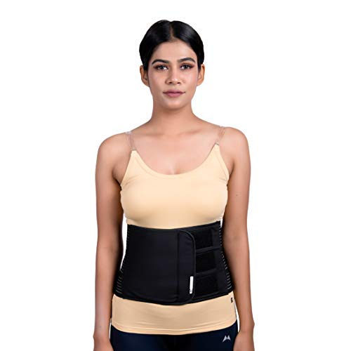 Wonder Care Abdominal Belt after delivery Tummy Reduction Trimmer Belly Slimming Binder for Women & Men Abdomen Compression Lumbar Support Black