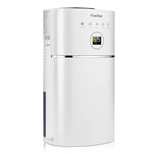 Finether Mini Deumidificatore d'aria da 1.1L/Giorno Compatto e Portabile per Casa, Cucina, Camera da letto, Caravan, Garage