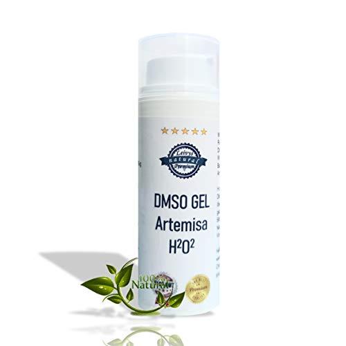 Leivys DMSO GEL 75 - Salbe + Beifuss Artemisia Auszug mit Dimethylsulfoxid 99,9%, bequeme Anwendung, effektive Wirkung 50ml