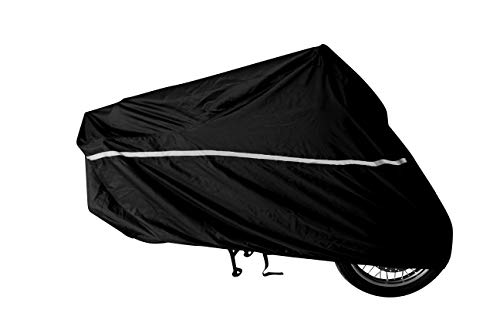 RaynCover Motorcycle Cover Indoor and Outdoor Waterproof Heavy Duty Fabric Windshield Liner Vents Double Stitching Sealed Seams Breathable Fabric Heat Shield Cloth/No rust Lock Holes XXL