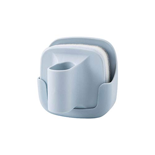 Cocina Cepillo para ollas montado en la pared Lavado de platos Esponja para fregar Quitar manchas Cepillo de limpieza 1 juego, 4