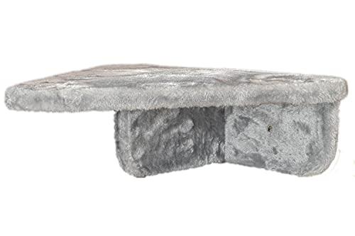 Petrebels Katzentreppe 38 x 48 cm Grau, Kletterwand für Katzen, Premium Qualität Wandliege zur Wandmontage, Dreieckig