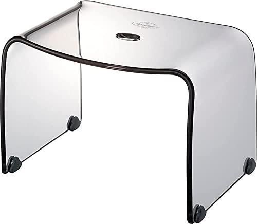 リス 風呂椅子 フランクタイム クリアグレー バスチェアーM 高さ 25cm
