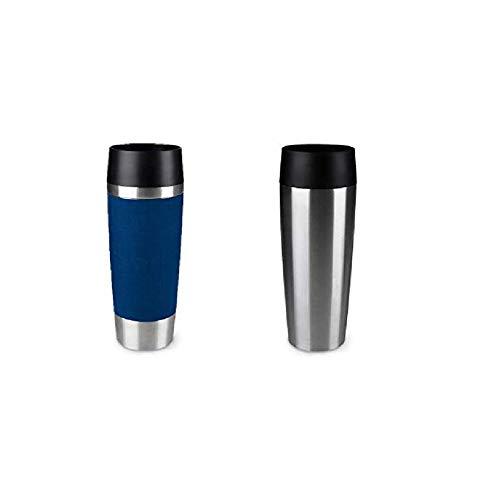 Emsa Standard-Design Travel Mugs, blau/edelstahl, 2 x 500ml