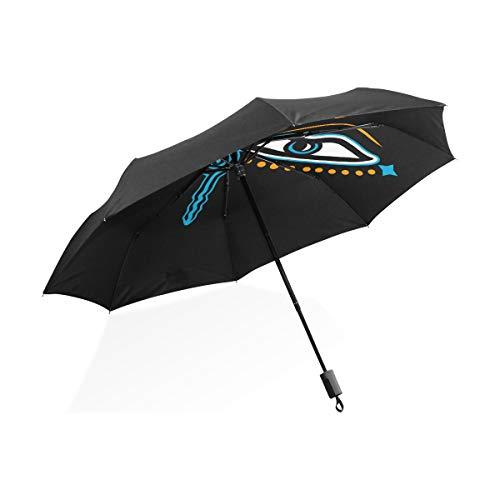 Riesige umgekehrten Regenschirm Augen Buddha Symbol Weisheit Aufklärung Negative tragbare kompakte Taschenschirm Anti-UV-Schutz Winddicht Outdoor-Reisen Frauen Regenschirm im Freien