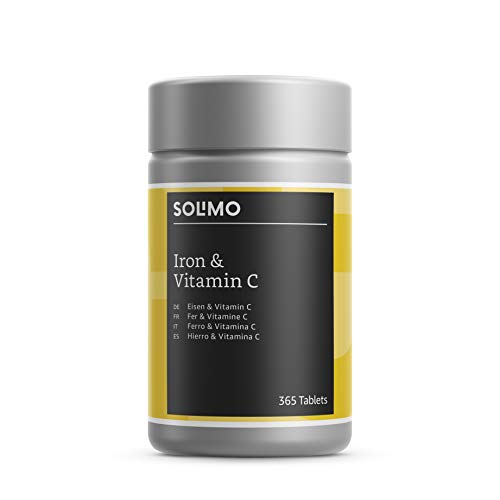 Amazon Brand - Solimo Iron and Vitamin C Food Supplement, 365 Tablets