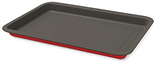 Guardini ROSSANA Plaque à four rectangulaire 26x37 cm Acier antiadhésif Rouge 26x37 cm