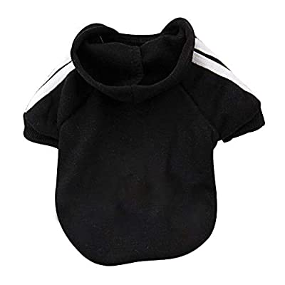 EASTLION Adidog Dog Puppy Pet Clothing Sweater Coat T-Shirt XX-Large Black …