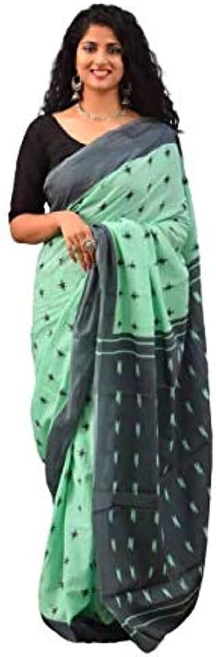 Indian Kiaaron Women's Hand Block Kalamkari Batik Bagru Jaipuri Ikat Printed Handloom Pure Cotton Mulmul Traditional Ethnic Cotto... Saree