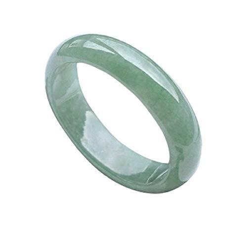 Kunze Women's natural jade bracelet, light green jade bracelet, jewelry, choice, with jewelry box, 50-63mm