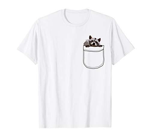 Niedliche Waschbär in Your Pocket–Pocket Animal Premium T-Shirt