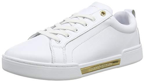 Tommy Hilfiger Outsole Metallic Sneaker, Scarpe da Ginnastica Basse Donna, Bianco (White Ybs), 37 EU
