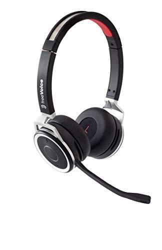 freeVoice Space Stereo NC (Bluetooth), FBT650B, Profi Bluetooth Headset, drahtlos für Softphones und Mobile, fürs Büro/Office, Call Center und unterwegs