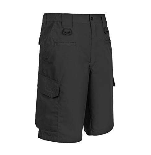 LA Police Gear Operator Tactical Shorts with Elastic Waistband,Black,42
