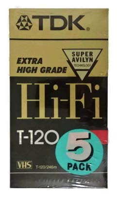 Best Price TDK 5 Pack Extra High Grade Hi-Fi T-120 Video Tapes