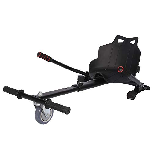 Z ZELUS Einstellbare Hoverkart Go Kart Sitzscooter Hoverseat für Hover Kart Elektro Scooter Hoverboard Self Balance Scooter mit 6,5/8/ 10 Zoll (Schwarz)