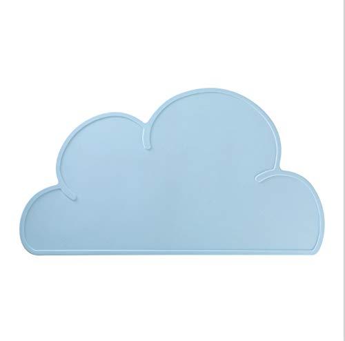 unkonw DAMM Cloud Silikon Isoliermatte Kreative Kinder Leicht Zu Reinigen Tischset Anti Overflow Tischmatte Baby Mobile Tischmatte Pet Supplies
