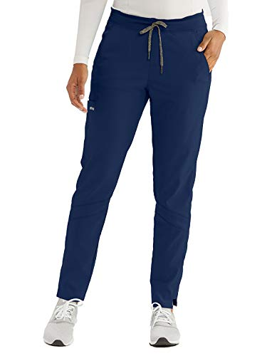 Grey's Anatomy Active GVSP509 Women's Three Pocket Knit Waist Cargo Scrub Pant Indigo M