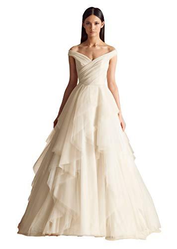 Tired Off the Shoulder Wedding Dress