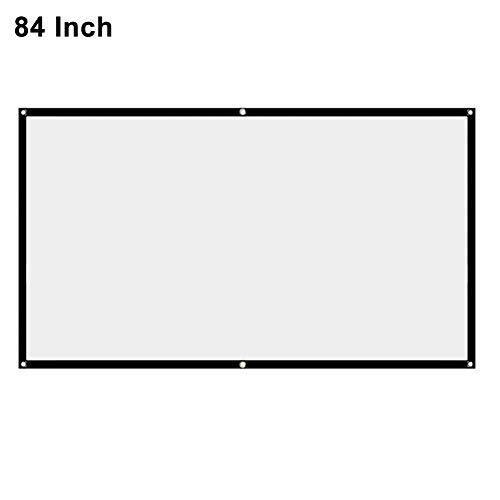 FADDARE Projektionswand, 16: 9 HD 4K Faltbare Filmleinwand Tragbare TV-Leinwand vorne und hinten Für Heimkino-Klassenzimmertraining im Freien drinnen