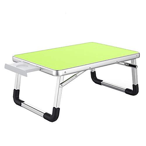 Table D'ordinateur Portable Lit Lit Bureau Table Pliante Petite Table Table Paresseuse Table D'étude Dortoir Étudiant Vert (Taille : 60 cm)