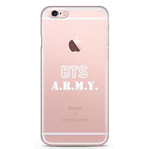 ZOKKO Coque iPhone 6S Plus BTS Army - Souple Transparente Encre Blanc