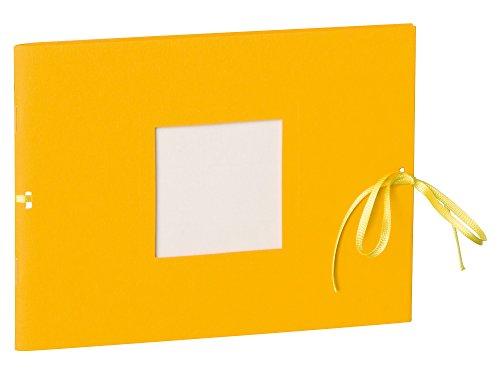 Semikolon (351538) Fotoheft Photo Booklet Landscape sun (gelb)-Fotoalbum mit 20 cremefarbenem Seiten - Mini Foto-Buch im Format: 19 x 14 cm