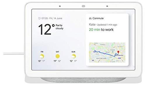 Google Nest Hub - Pantalla inteligente (11,8 x 17,85 x 6,73 cm), color tiza