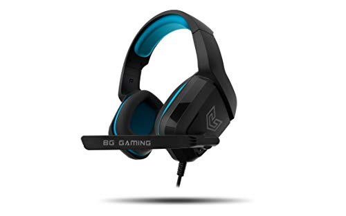 Cascos Gaming BG RADAR - Auriculares con microfono, Sonido stereo, Altavoces 40mm, Diadema Ajustable, Micro abatible, USB, Compatible PC, PS4, PS5, XBONE ONE, Nintendo Switch, Negro ✅