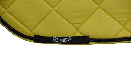 Rhinegold Unisex's 416-F-YELL Elite Carnival Saddle Pad, Yellow, Full