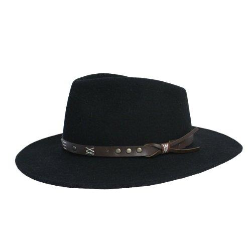 Scippis Emerald Chapeau de Cowboy, Noir, L (58/59) Mixte