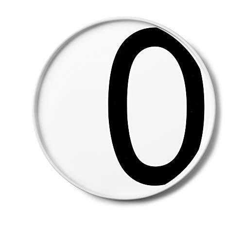 Design Letters Assiette Personnalisée en Blanc Porcelaine Fine de A-Z - O – Assiette Decorative, Idéal décorer, comme Cadeau Personnel, ou pour Les Repas, Compatible Lave-Vaisselle, D: 20cm