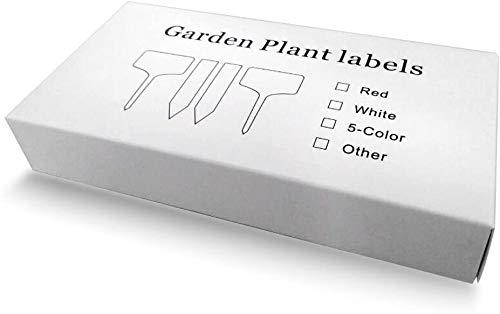 """G2Plus 100Stk. Mini T-Form Plastik Pflanzenstecker StecketikettenBeschriften Pflanzschilder Schilder 6CM * 10CM Sind Praktisch für Alle """"Gärtner"""" (Weiß) - 2"""