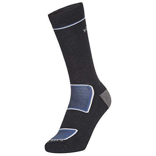Trespass Herren Rizzle Eco Socken, schwarz, M