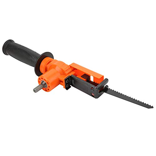 Reciprocating Saw Adapter Handheld Portable Woodworking Accessory Electric Drill Tool 800-1500 RPM Plastic + Iron for Wood Cuting