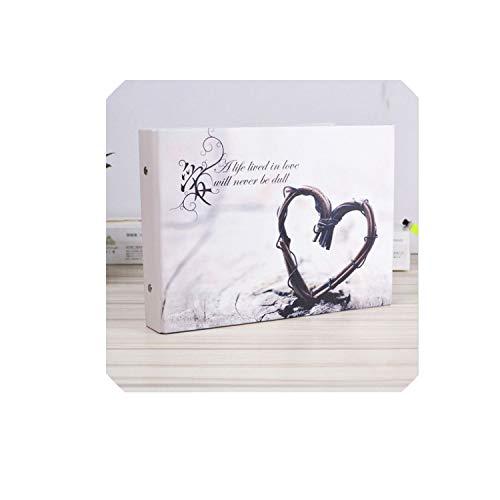 Bernice Winifred Album 1 Stück Sehnsucht nach Liebe 10-Zoll-Fotoalbum Lovers Hochzeit Fotos Familie Speicher Plattenalbum Handmade Sticky Typ Scrapbooking