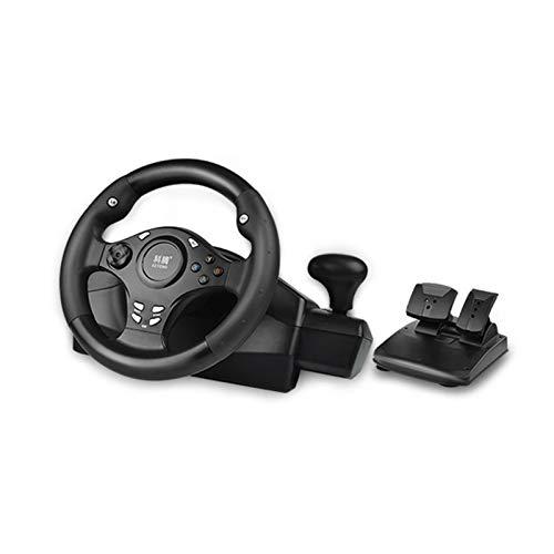 Cestbon 7 en 1 270 ° Consolas de Juego del Volante para PS4 / PS3 / PC/Xbox One/Xbox 360 / conmutador/Android, Calma Negro Y Azul,Negro
