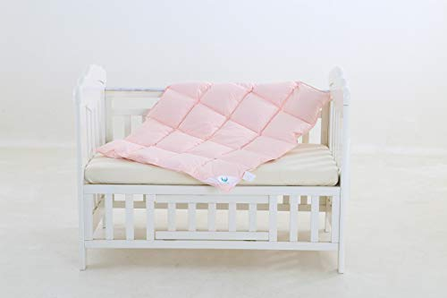 February Snow Pink Baby Goose Down Alternative Comforter Blanket for Crib Bedding (Pink)