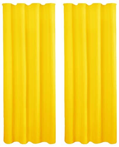 Bestlivings Dekoschal 2er Pack mit Universalband, 140x245 cm gelb