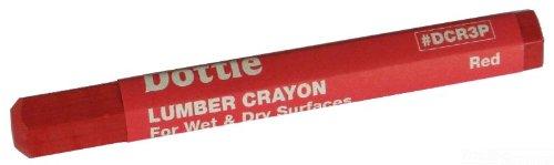 L.H. Dottie DCBLK3P Lumber Crayon, Black, 3-Pack