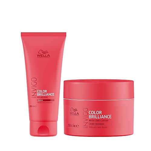 Wella Professionals INVIGO Color Brilliance Conditioner 200ml and Mask 150ml duo for fine/normal hair