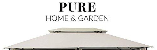 Pure Home & Garden Ersatzdach für Pavillon Capiata Natur, ca. 300 x 400 cm, wasserabweisend mit UV-Schutz 40 Plus