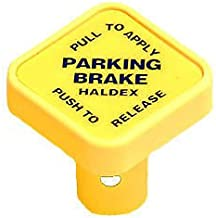 CPW tm Haldex Midland Yellow Diamond Parking Brake Knob for Push Pull Valves All Semi-Trucks Peterbilt, Freightliner, Kenworth, MACK