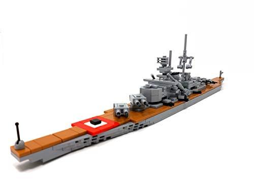 Bausteine Schiff Bismarck, 50 cm Modellschiff, 326 Klemmbausteine