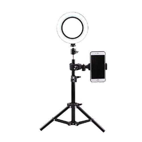 16cm Fill Light, 50cm Desktop Tripod, Live Broadcast, Selfie, Photography, Photo, Real-Time Fill Light, Led Ring Beauty Light,Black-One Size