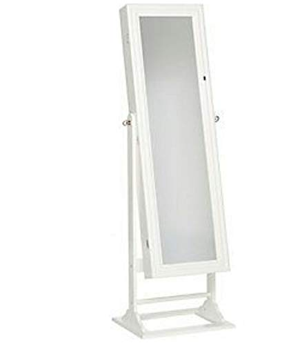 Gold & Silver Safekeeper Jewelry Lighted Armoire by Lori Greiner / White Color
