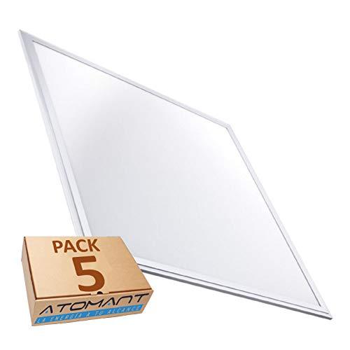 Pack 5x Panel LED Slim 60x60 cm, 40W. Color Blanco Frio (6500K). 3200 Lumenes. Driver incluido. A++
