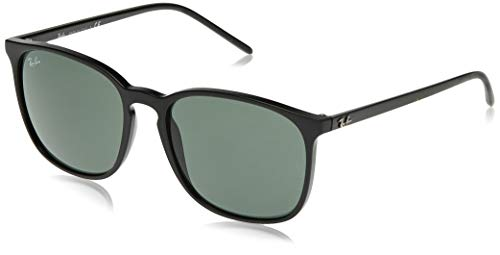 Ray-Ban Herren 0RB4387 Sonnenbrille, Schwarz (Black), 55