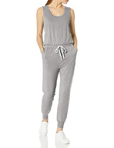 Amazon Essentials Studio Terry Fleece Jumpsuit Athletic-Pants, Hellgrau (Light Grey Heather), S